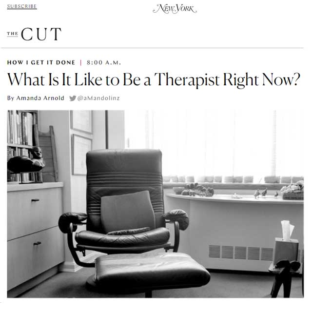 what is it like to be a therapist